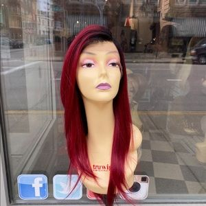 Burgundy Ombre Lacefront wig